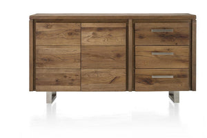 Masters Bespoke Sideboards in Solid Oak-sideboards-Against The Grain Furniture-160-Vintage White-Stainless Steel Legs-Against The Grain Furniture