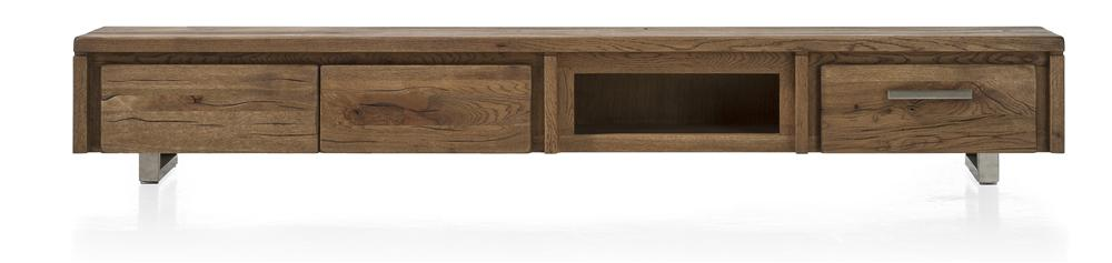 Masters Bespoke TV Media Stands in Solid Oak-Tv media stands-Against The Grain Furniture-240-Vintage White-Stainless Steel legs-Against The Grain Furniture