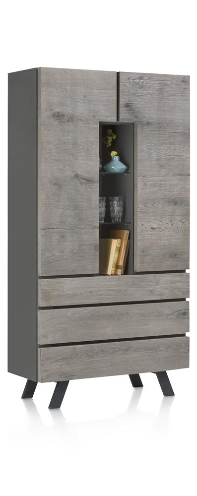 Habufa Saruna Tall Storage and Display Cabinet-Highboard-Habufa Michigan-Against The Grain Furniture