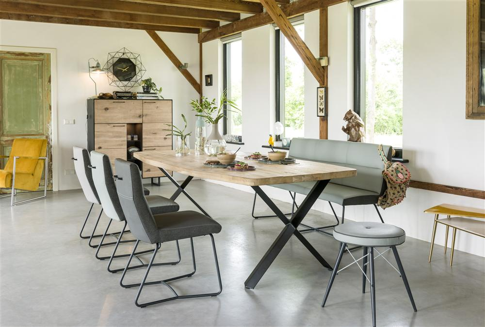 Habufa Grant dining chairs and bench-Dining Chairs-Habufa Boston-Against The Grain Furniture