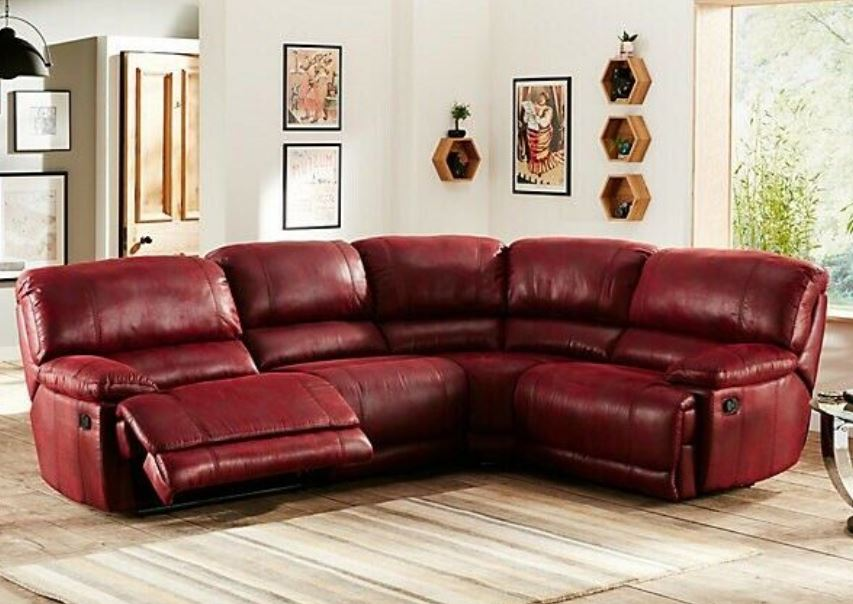 Guvnor 4 and 5 Piece Corner Sofas In Red