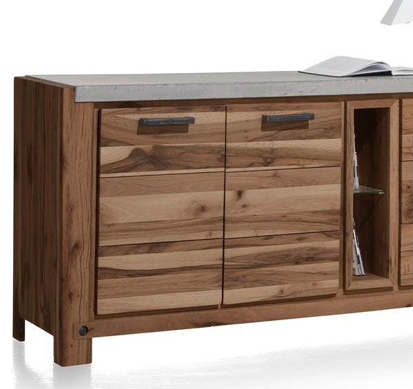 Habufa Maestro and Maitre Sideboards-oak sideboard-Against The Grain Furniture-220-Brown-Concrete top-Against The Grain Furniture