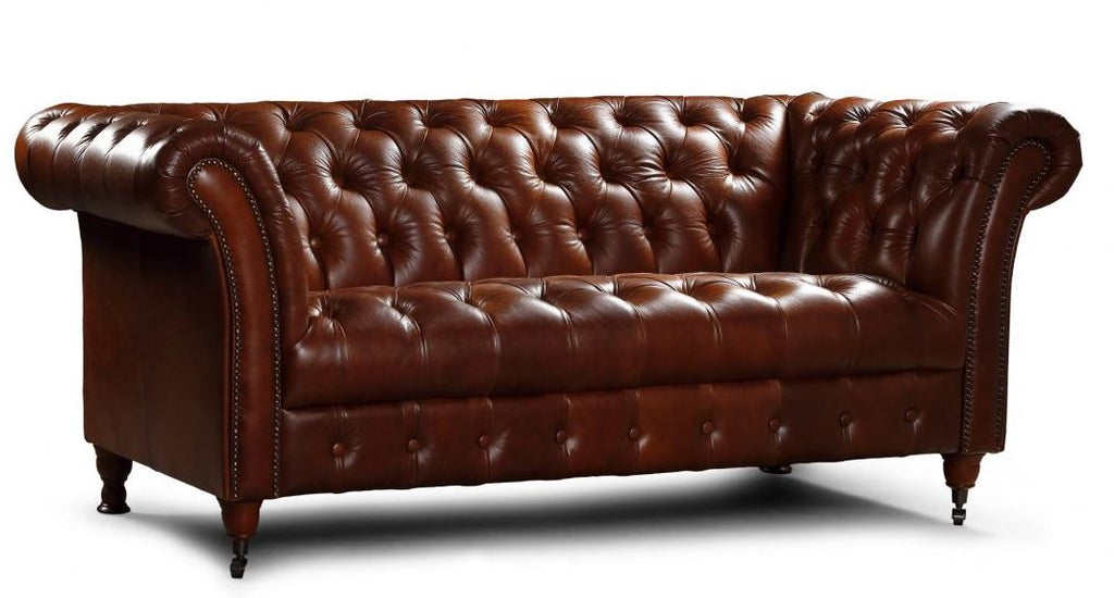 Chester Club Leather Sofas and Chair.