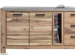 Habufa Maestro and Maitre Sideboards-oak sideboard-Against The Grain Furniture-190-Natural-Concrete top-Against The Grain Furniture