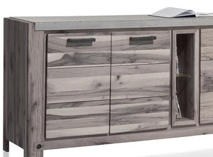 Habufa Maestro and Maitre Sideboards-oak sideboard-Against The Grain Furniture-220-Grey Plumb-Concrete top-Against The Grain Furniture