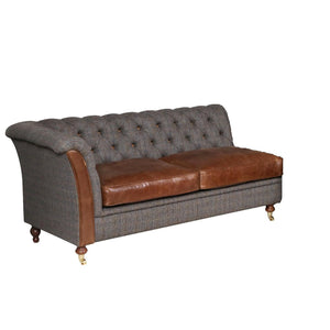 Granby Harris Tweed and Leather Modular Corner Groups-harris tweed corner groups-Against The Grain Furniture-2 Seat Left hand Facing-Morland-Against The Grain Furniture