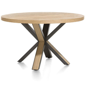 Habufa Brooklyn Starburst Round Dining Table Against The