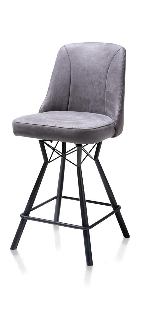 Habufa Eefje Bar Stools-[Habufa Detroit]-[Furniture Village Detroit]-Anthracite-Against The Grain Furniture