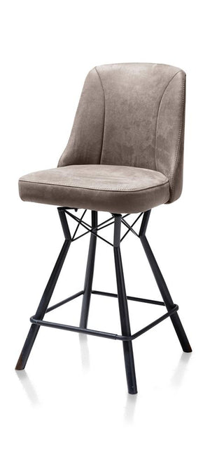 Habufa Eefje Bar Stools-[Habufa Detroit]-[Furniture Village Detroit]-Taupe-Against The Grain Furniture