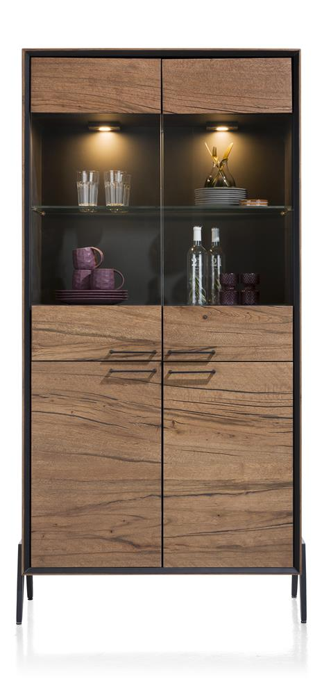 michaeloconnor.co.uk-habufa-janella-glass display cabine, Habufa janella t,glass display cabinet, Habufa oak glass display cabinet,