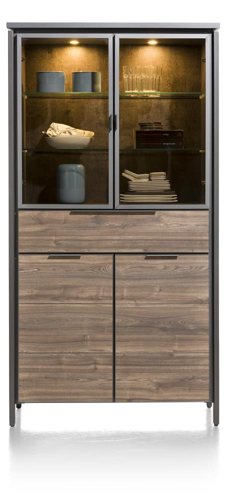 Habufa Madeira Glass Display Cabinet in Primo Laminato
