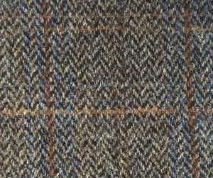 Wing Chair Harris Tweed and Leather REDUCED TO CLEAR STOCK-harris tweed accent chairs-Against The Grain Furniture-Against The Grain Furniture