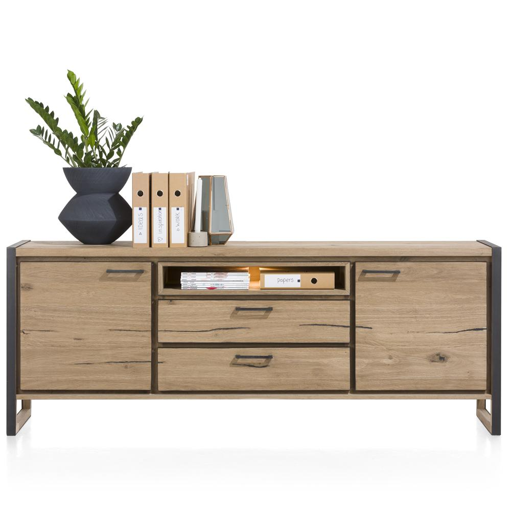 Habufa Metalox Niche Sideboards-[Habufa Detroit]-[Furniture Village Detroit]-210cm-Against The Grain Furniture