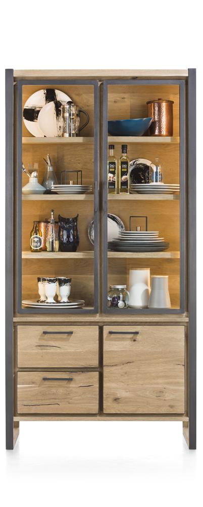 Habufa Metalox Glass Storage Cabinets-[Habufa Detroit]-[Furniture Village Detroit]-Double Glass Doors-Against The Grain Furniture