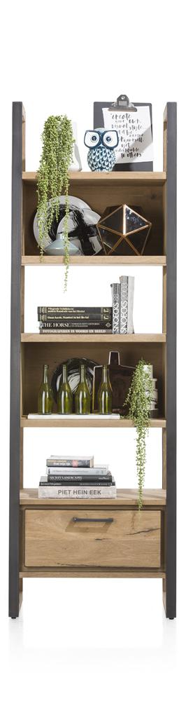 Habufa Metalox Bookcase-[Habufa Detroit]-[Furniture Village Detroit]-65 cms wide x 2.00 high-Against The Grain Furniture