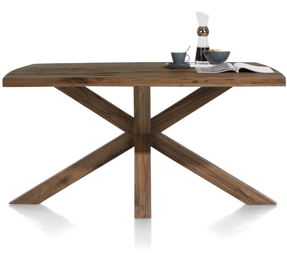 Habufa Maestro and Maitre Tables in Various Sizes and Colours-Dining Tables-Against The Grain Furniture-180x105cm-Brown-Wooden Leg-Against The Grain Furniture