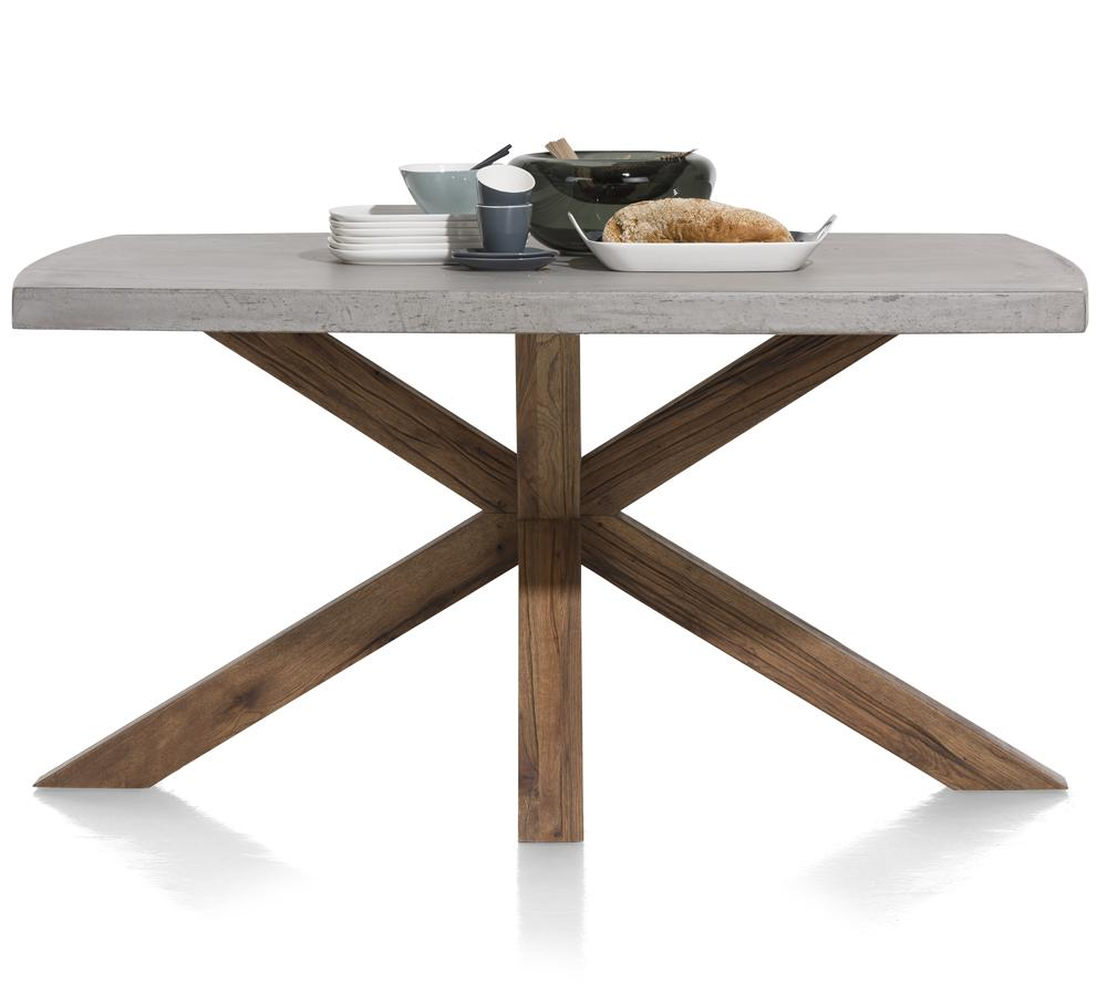 Habufa Maestro and Maitre Concrete Tables With Metal or Oak Legs-Dining Tables-Against The Grain Furniture-180x103cm-Oak Brown-Against The Grain Furniture