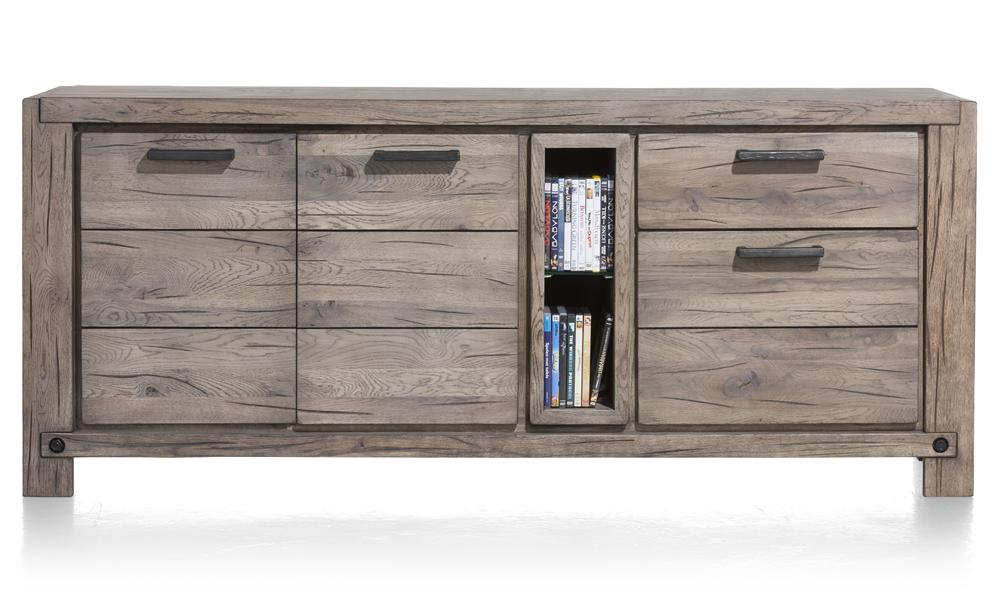 Habufa Maestro and Maitre Sideboards-oak sideboard-Against The Grain Furniture-190-Grey Plumb-Wood top-Against The Grain Furniture