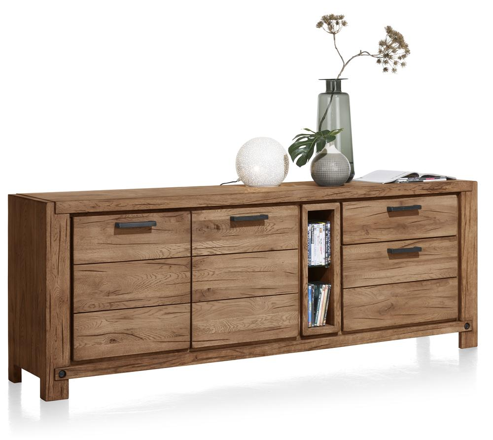 Habufa Maestro and Maitre Sideboards-oak sideboard-Against The Grain Furniture-220-Brown-Wood top-Against The Grain Furniture