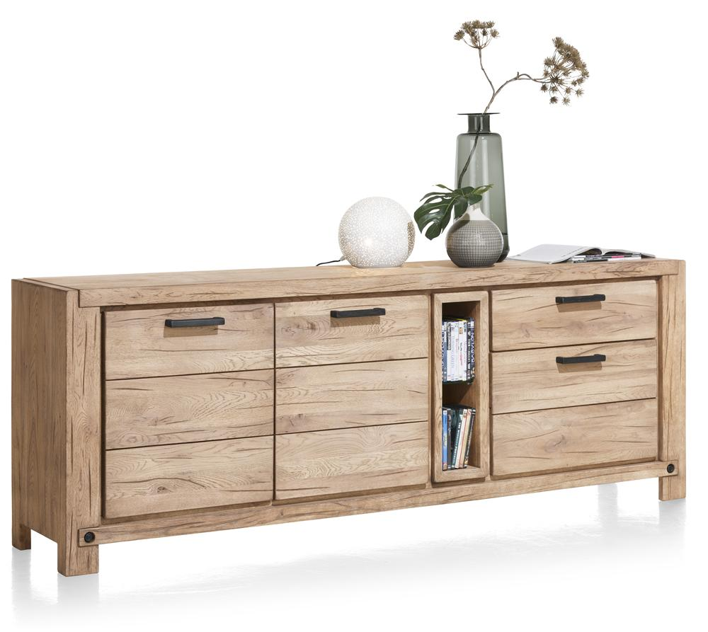 Habufa Maestro and Maitre Sideboards-oak sideboard-Against The Grain Furniture-220-Natural-Wood top-Against The Grain Furniture