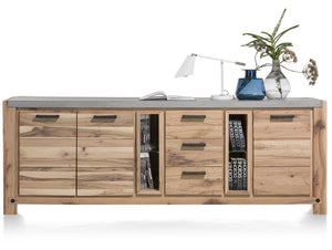 Habufa Maestro and Maitre Sideboards-oak sideboard-Against The Grain Furniture-240-Natural-Concrete top-Against The Grain Furniture