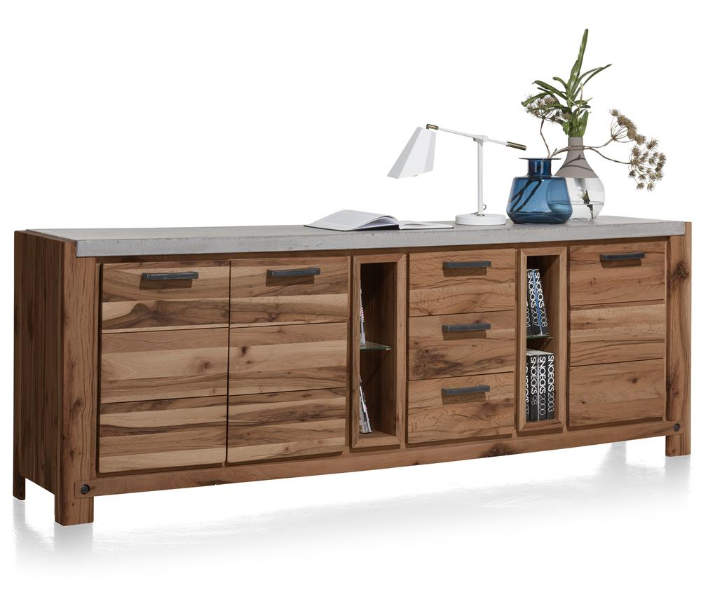Habufa Maestro and Maitre Sideboards-oak sideboard-Against The Grain Furniture-240-Brown-Concrete top-Against The Grain Furniture