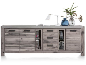 Habufa Maestro and Maitre Sideboards-oak sideboard-Against The Grain Furniture-240-Grey Plumb-Concrete top-Against The Grain Furniture