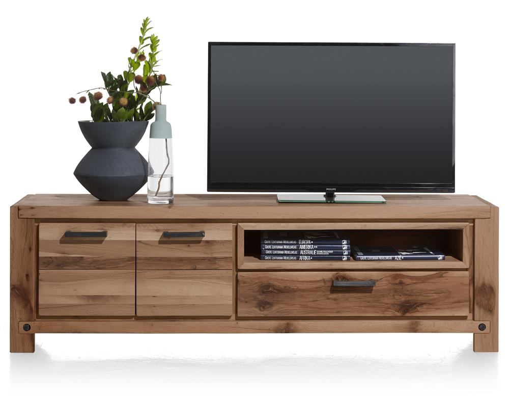 Habufa Maestro and Maitre Lowboard TV Media Cabinets-Lowboard TV cabinets-Against The Grain Furniture-Brown-140-Wooden-Against The Grain Furniture