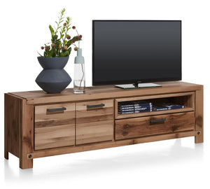 Habufa Maestro and Maitre Lowboard TV Media Cabinets-Lowboard TV cabinets-Against The Grain Furniture-Brown-170-Wooden-Against The Grain Furniture