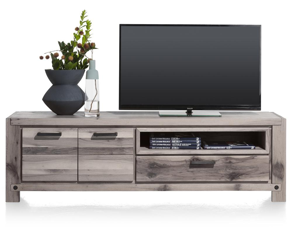 Habufa Maestro and Maitre Lowboard TV Media Cabinets-Lowboard TV cabinets-Against The Grain Furniture-Grey Plumb-170-Wooden-Against The Grain Furniture