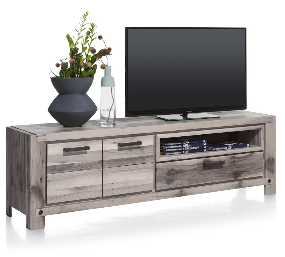 Habufa Maestro and Maitre Lowboard TV Media Cabinets-Lowboard TV cabinets-Against The Grain Furniture-Grey Plumb-140-Wooden-Against The Grain Furniture