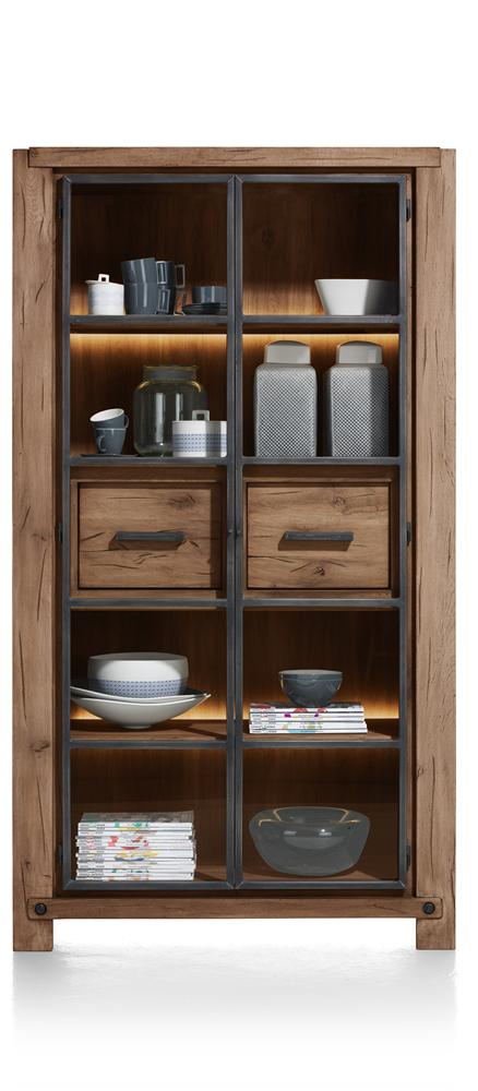 Habufa Maestro and Maitre Display Cabinets-Display cabinets-Against The Grain Furniture-Brown-Against The Grain Furniture