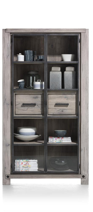 Habufa Maestro and Maitre Display Cabinets-Display cabinets-Against The Grain Furniture-Grey Plumb-Against The Grain Furniture