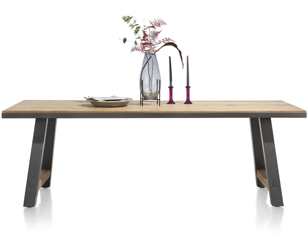 Habufa Farmer and Farmland Oak and Metal Tables.-Dining and bar Tables-Habufa Baltimore-180cm-Against The Grain Furniture