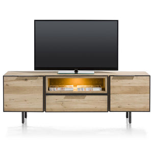 Habufa Pedro Oak Lowboard-TV lowboards-habufa sox-1.80-Against The Grain Furniture