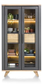 Habufa Jardin Glass Display Cabinet-Display cabinets-Against the Grain Furniture-Grey-Against The Grain Furniture