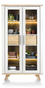 Habufa Jardin Glass Display Cabinet-Display cabinets-Against the Grain Furniture-White-Against The Grain Furniture