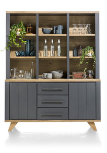 Habufa Jardin Buffet Display Cabinet-Buffet Hutch-Against the Grain Furniture-Grey-Against The Grain Furniture