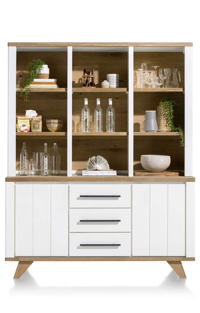 Habufa Jardin Buffet Display Cabinet-Buffet Hutch-Against the Grain Furniture-White-Against The Grain Furniture