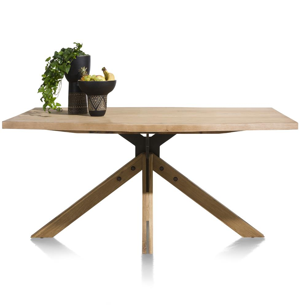 Habufa Jardin Starburst Oak Dining Table-Dining Tables-Against the Grain Furniture-170 x 100-Against The Grain Furniture