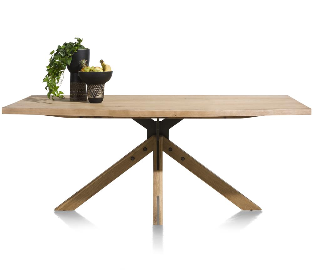 Habufa Jardin Starburst Oak Dining Table-Dining Tables-Against the Grain Furniture-200 x 100-Against The Grain Furniture