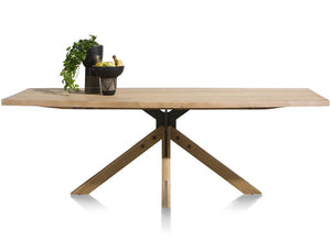 Habufa Jardin Starburst Oak Dining Table-Dining Tables-Against the Grain Furniture-230 x 105-Against The Grain Furniture
