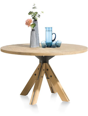 Habufa Jardin Starburst Oak Dining Table-Dining Tables-Against the Grain Furniture-130 Round-Against The Grain Furniture