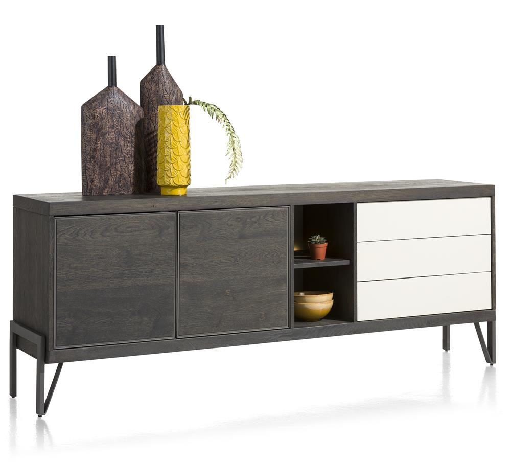 Habufa Montpellier Sideboards in Smoked Charcoal Oak Wood