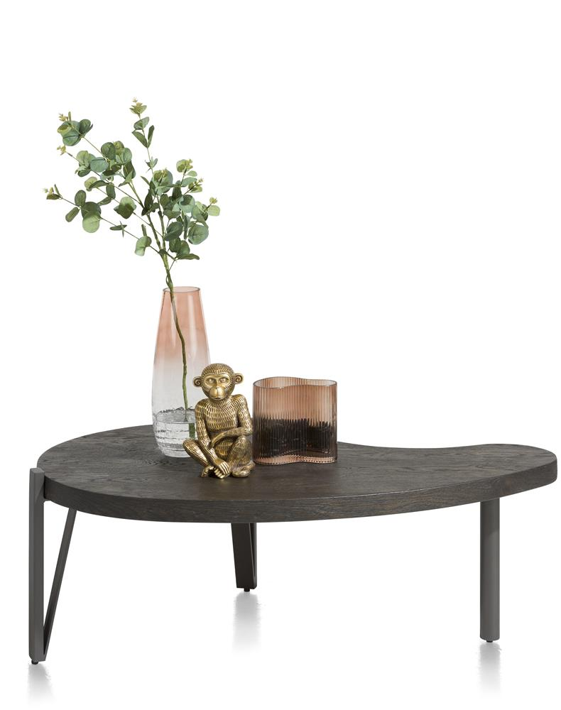 Habufa Montpellier Coffee and Side Tables in Smoked Charcoal Oak Wood