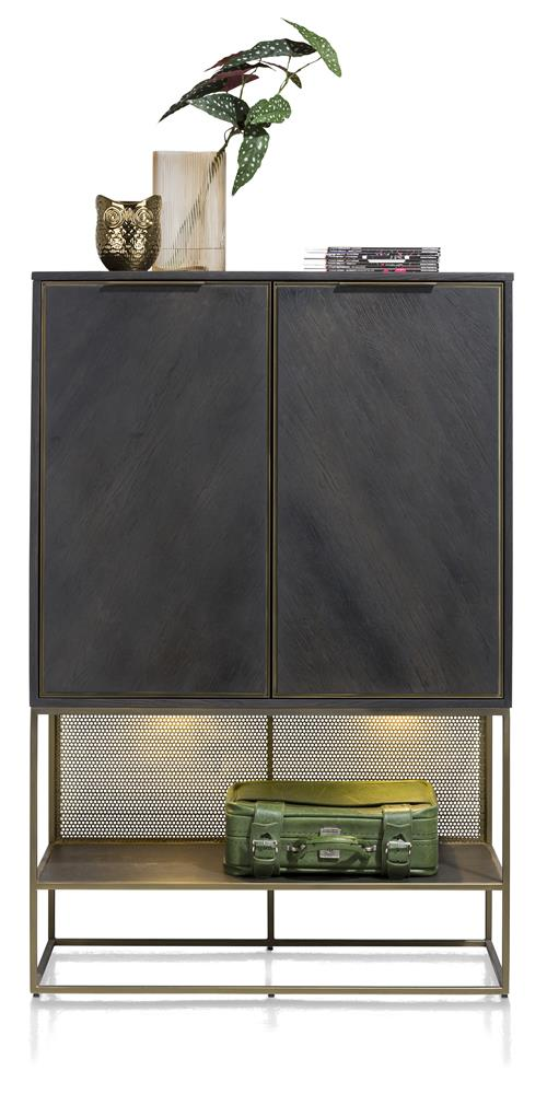 Habufa City Highboards in Oak and Metal-Highboard-Against the Grain Furniture-[Habufa Detroit]-[Furniture Village Detroit]-[Urban furniture]-Against The Grain Furniture
