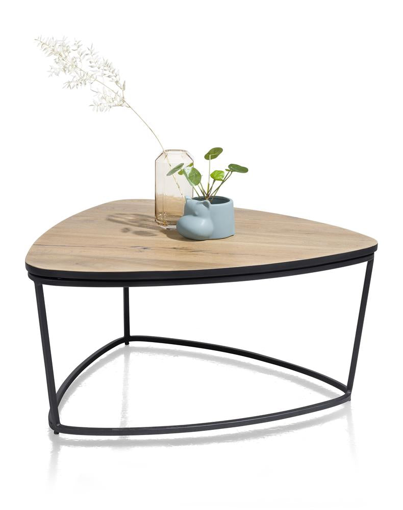Habufa City Small Coffee /Side tables in Oak and Metal-home office desk-Against the Grain Furniture-[Habufa Detroit]-[Furniture Village Detroit]-[Urban furniture]-Against The Grain Furniture