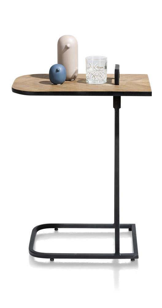 Habufa City Laptop Table in Oak and Metal-home office desk-Against the Grain Furniture-[Habufa Detroit]-[Furniture Village Detroit]-[Urban furniture]-Against The Grain Furniture