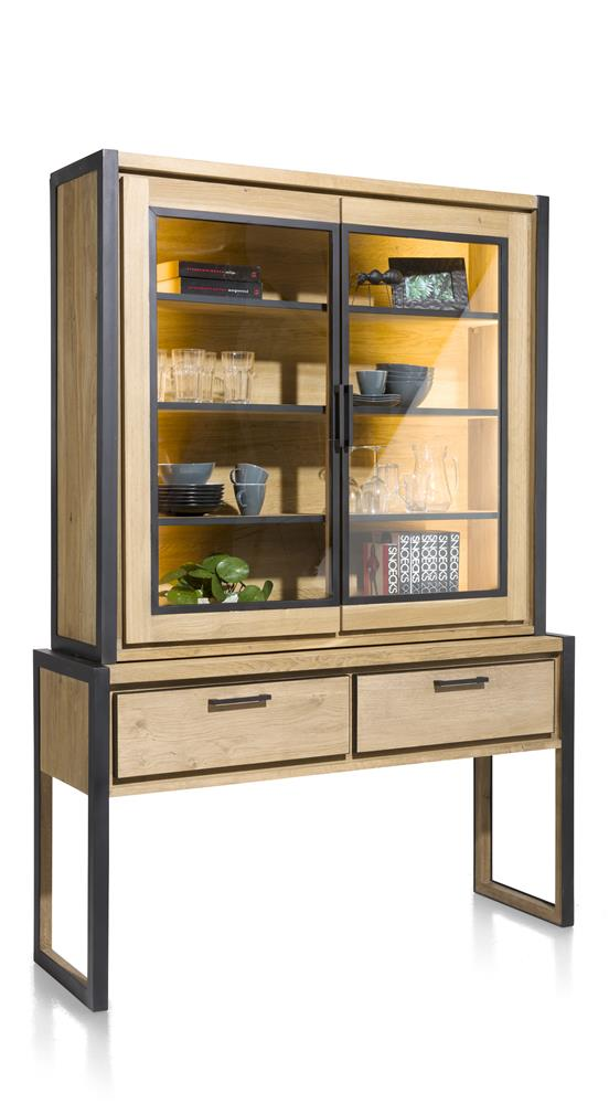 Habufa Metalox Glass Storage Hall Cabinet-[Habufa Detroit]-[Furniture Village Detroit]-Against The Grain Furniture