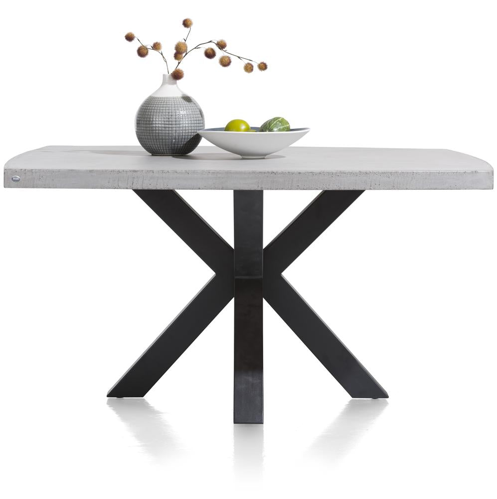 Habufa Maestro and Maitre Concrete Tables With Metal or Oak Legs-Dining Tables-Against The Grain Furniture-Against The Grain Furniture